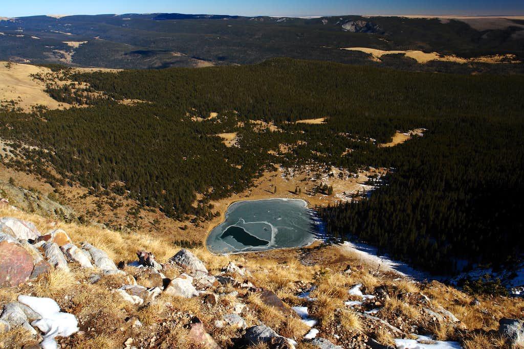 Pecos Baldy Lake from East Pecos Baldy summit