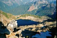 Gothic Lake from the summit...