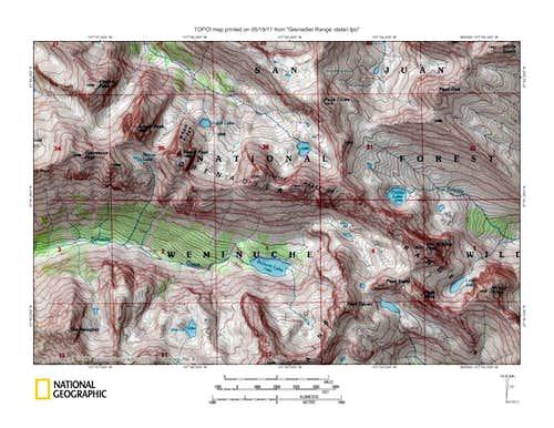 Grenadier Range TOPO detail