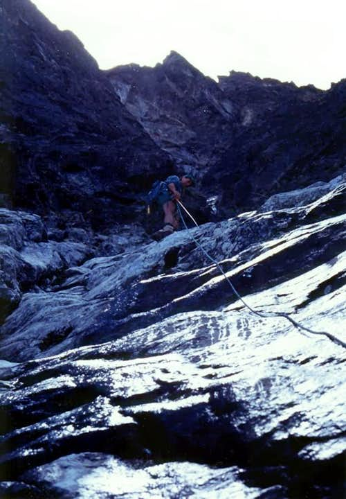 Climbing on Left or East Spur
