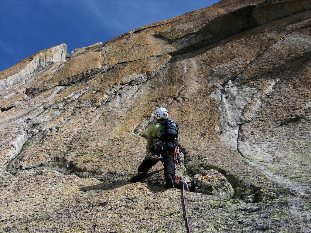 Enfer doux third pitch, Gletschhorn Spur
