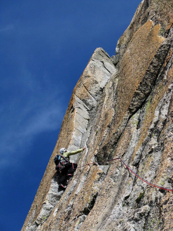 Beautiful corner on Enfer Doux, Gletschhorn Sporn