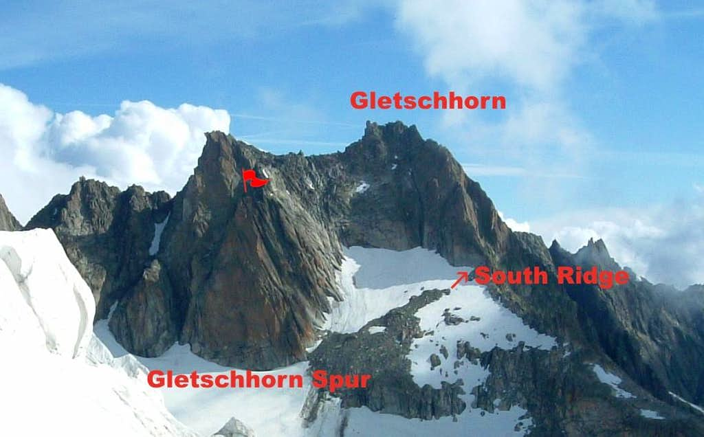 Gletschorn Spur and Gletschhorn