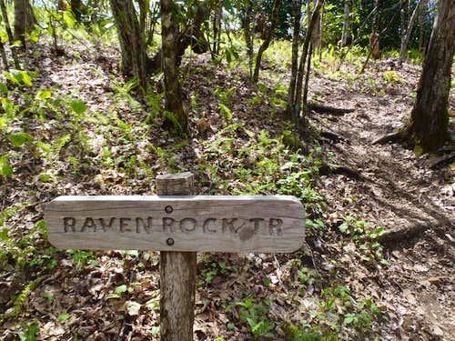 Ravenrock Ridge trail sign