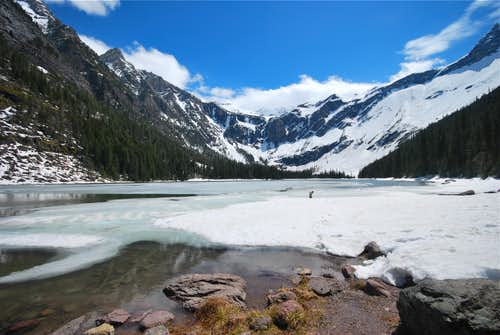 Avalanche Lake, spring