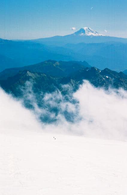 Clouds above the Muir snow...