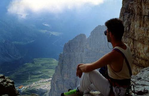 It's me, sitting on the ledge...