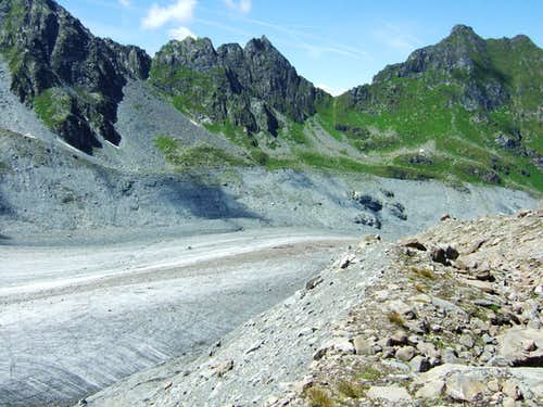 Corbassiere glacier