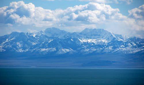 Deseret Peak from Antelope Island