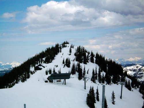 Grubstake Peak and Summit House (Crystal Ski Area)
