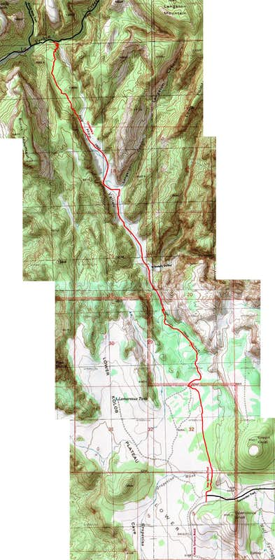Map of Hop Valley Trail