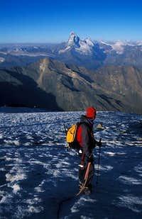 Climbing to alphubel