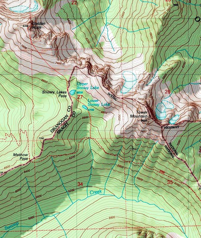 Golden Horn Topo Photos Diagrams Topos SummitPost - Topographic map of utah