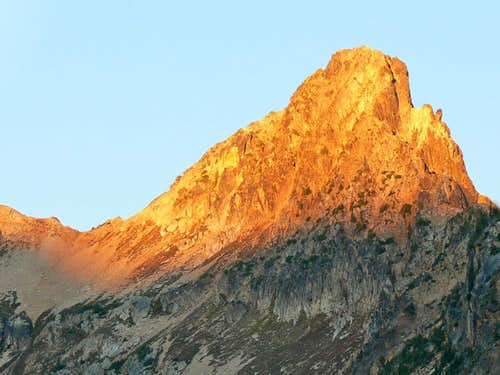 Golden Light on the Mountain