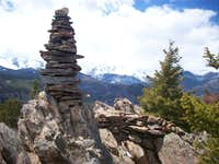 Emerald Mountain summit cairn