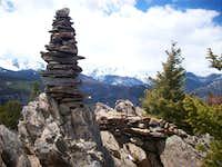 Emerald Mountain summit cairn