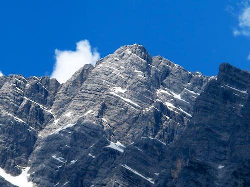 Close-up on the Watzmann's highest point, the Mittelspitze (2713m)