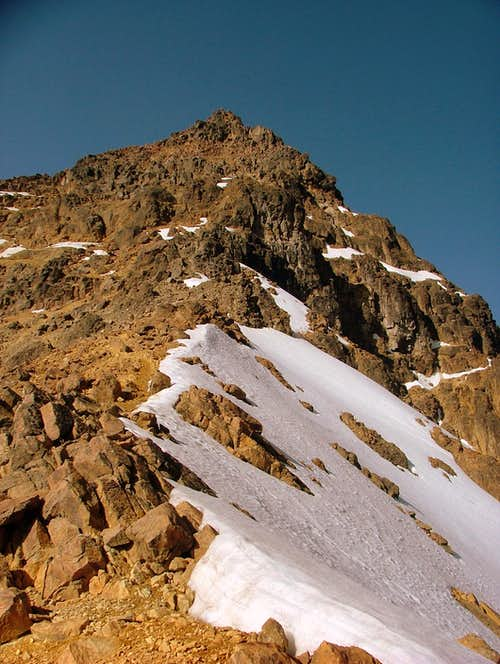 The summit from the north ridge.