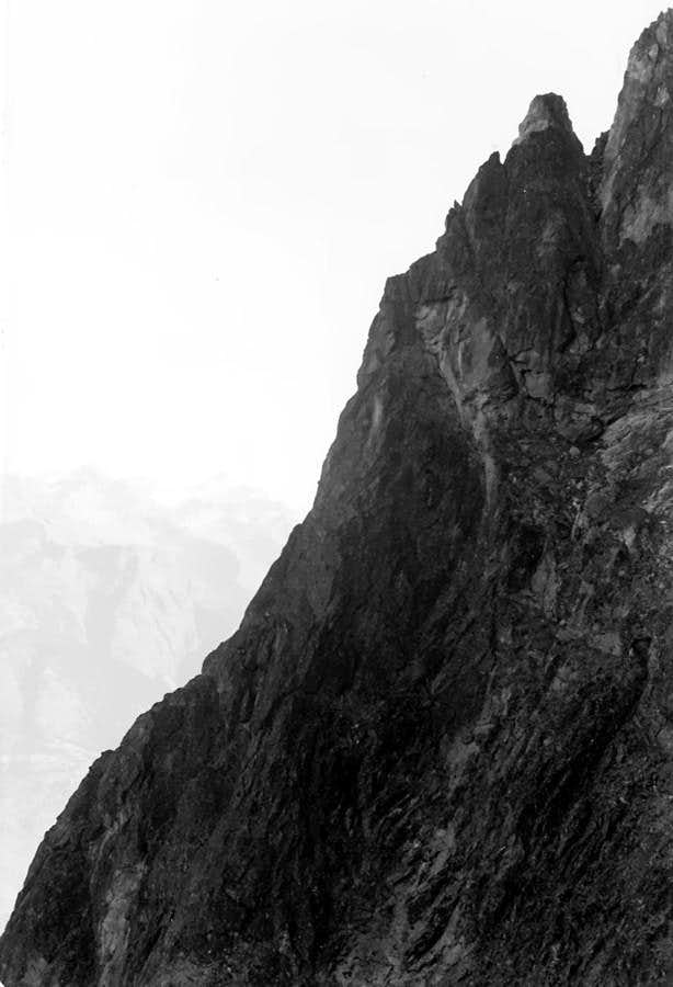 Becca di Nona (3142m)  from North Wall to N-NE great Crest
