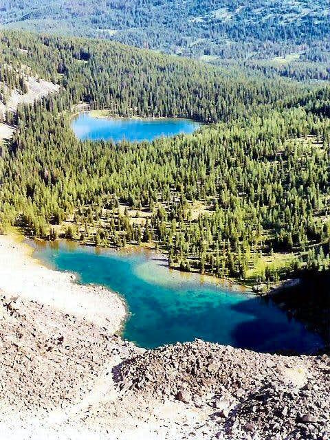 Small lakes at the northern...