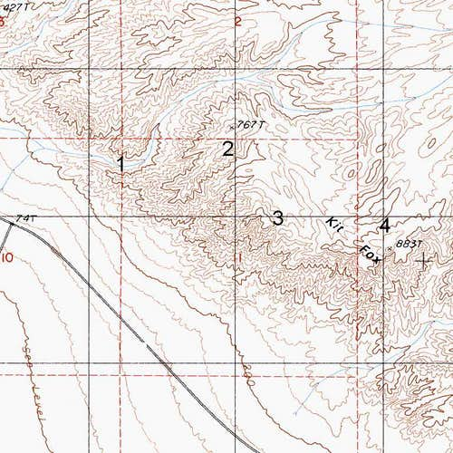 Kit Fox Hills Map