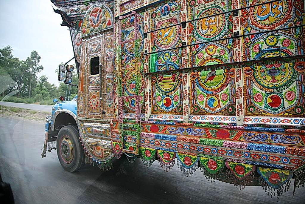 Decorated Truck on KKH