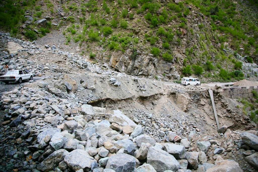 Landslide on KKH