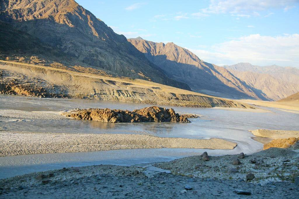 An Island in mighty Indus River