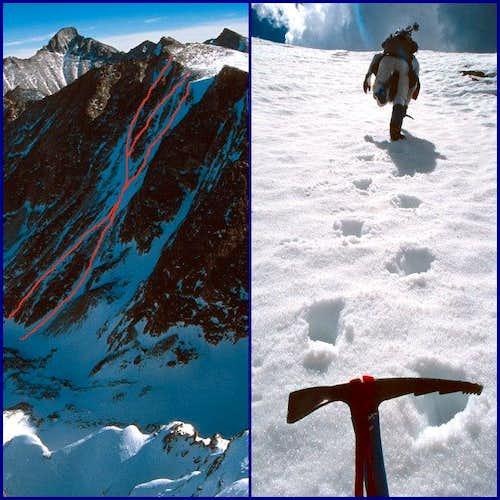 Left: The Powell Peak...