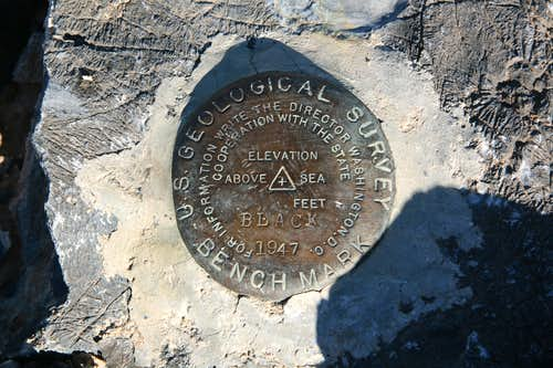 Lake Hill Summit Benchmark