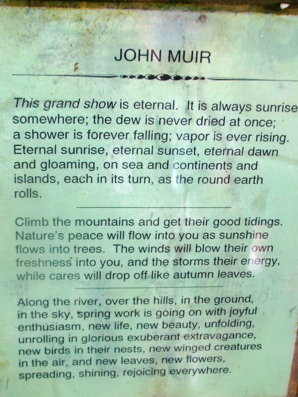 Quotes John Muir Trail Quotesgram