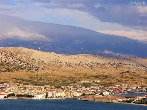 Pag town is center of Pag in...