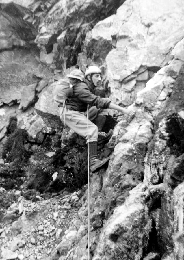 Becca di Nona (3142m)  Climbing on NORTH FACE First Replay of 1966 Route