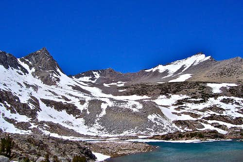 Mount goode seen from Bishop Lake