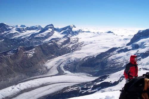 On the summit of west Breithorn