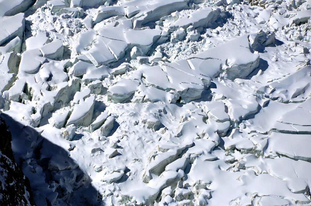 Glaciers crevasses