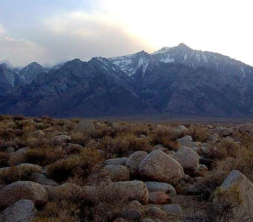 Mt. Williamson above Manzanar...
