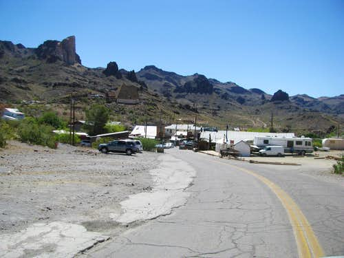Entering Oatman AZ