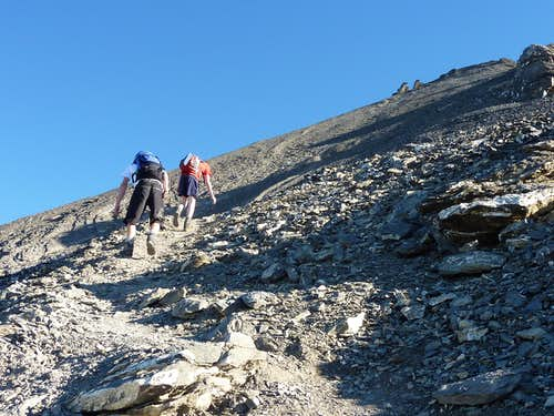 Haute Cime scree path