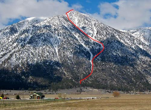 Jobs Peak East Gully Route