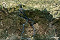 Mt. Wilson via Jones Peak Google Image