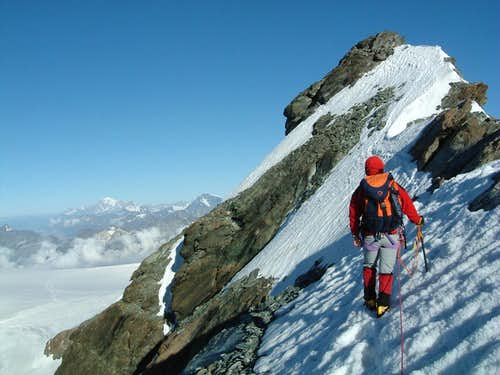 Eastern Breithorn summit ridge