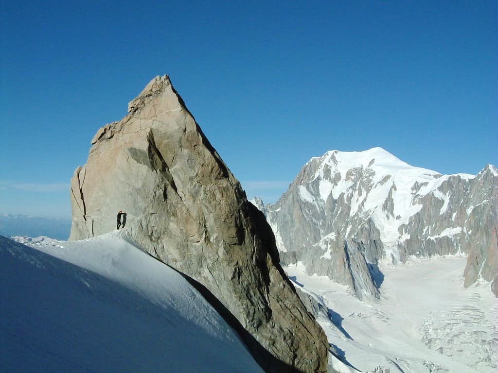 Monte Bianco South Side from Dente del Gigante foot