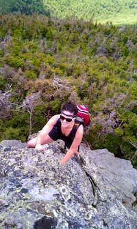 bouldering Castle Trail en route to Mt Jefferson