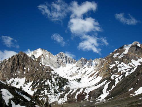 Peaks above McGee Creek