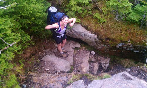 En route to the Guyot campsite by way of North Twin, South Twin and Mt Guyot NH