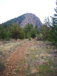 The lower point of Palisades Mountain