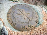 Azimuth Mark on Palisades Mountain