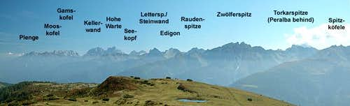 Part of the Carnic Alps...