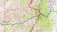 Topo Map of George Creek...